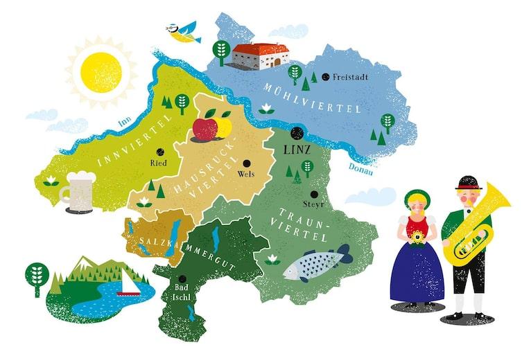 Die Regionen Oberösterreichs (Foto: Andreas Posselt)