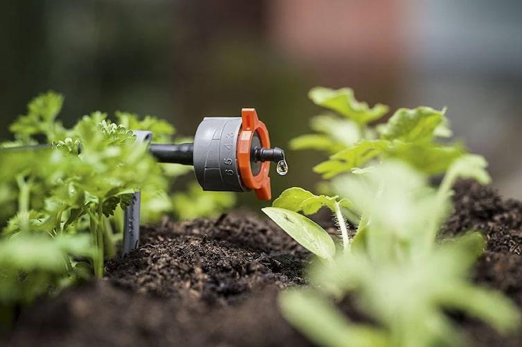 Bewässerung, Gemüsegarten, Gardena