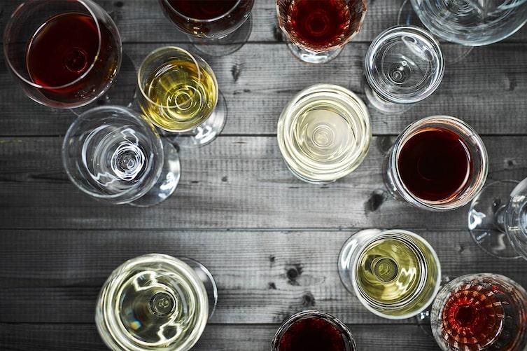 Weingläser, Alkoholgläser, Trinken, Alkohol
