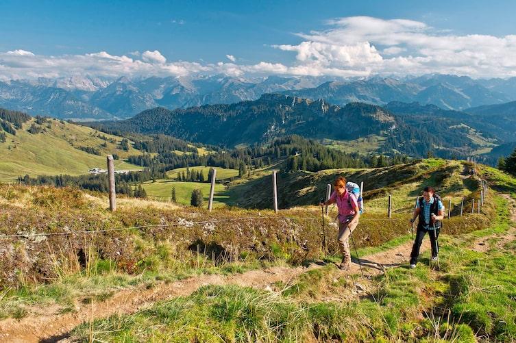 Allgäu, Riedberger Horn, Allgäuer Alpen, Wandern, Weitwandern