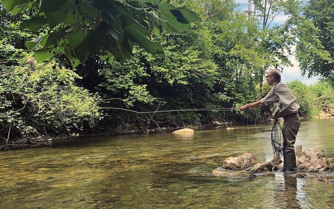 Fliegenfischen, Ausflug, Pielach, Klaus Kamolz