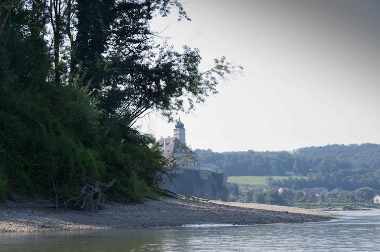 Wachau, Donau, Badeplatz, Schönbühel