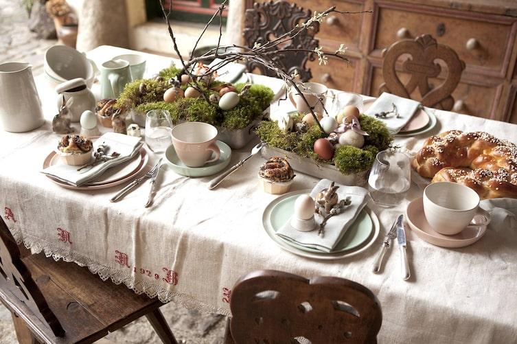 Tischdeko für Ostern, Osterdekoration, Ostern, Osternest, Osterdeko