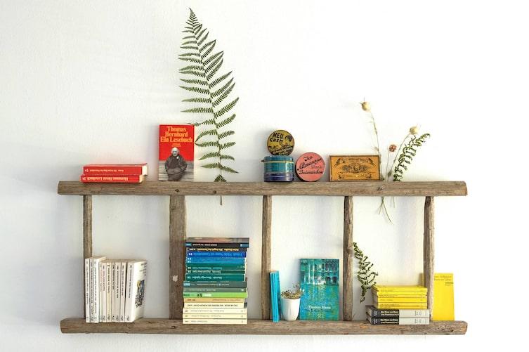 Fundstück: Von der Leiter zum Bücherregal (Foto: Michaela Gabler)