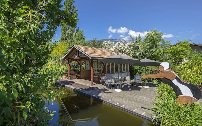 Garten, Teich, Südtirol