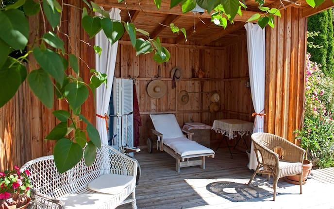 Garten, Gartenhaus