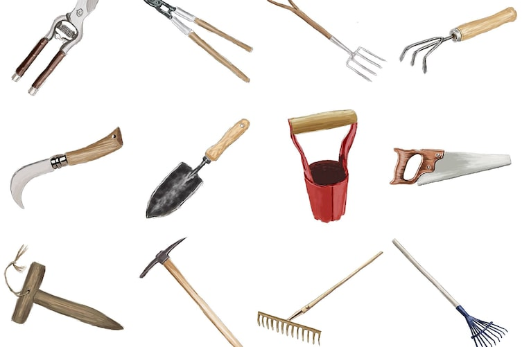 Gartenwerkzeug, Werkzeug für den Garten, Werkzeug für Gartenpflege