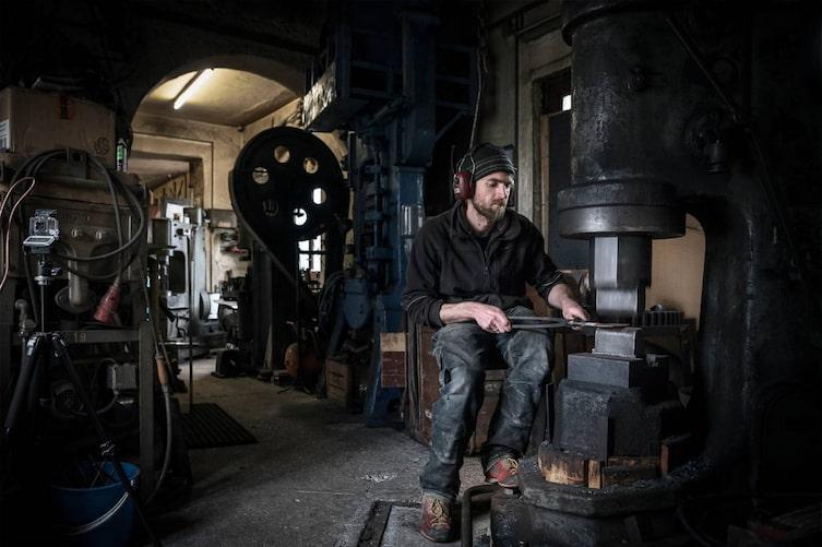 Schmied Florian Aberl, Allgäu, Schmiede, Werkstatt