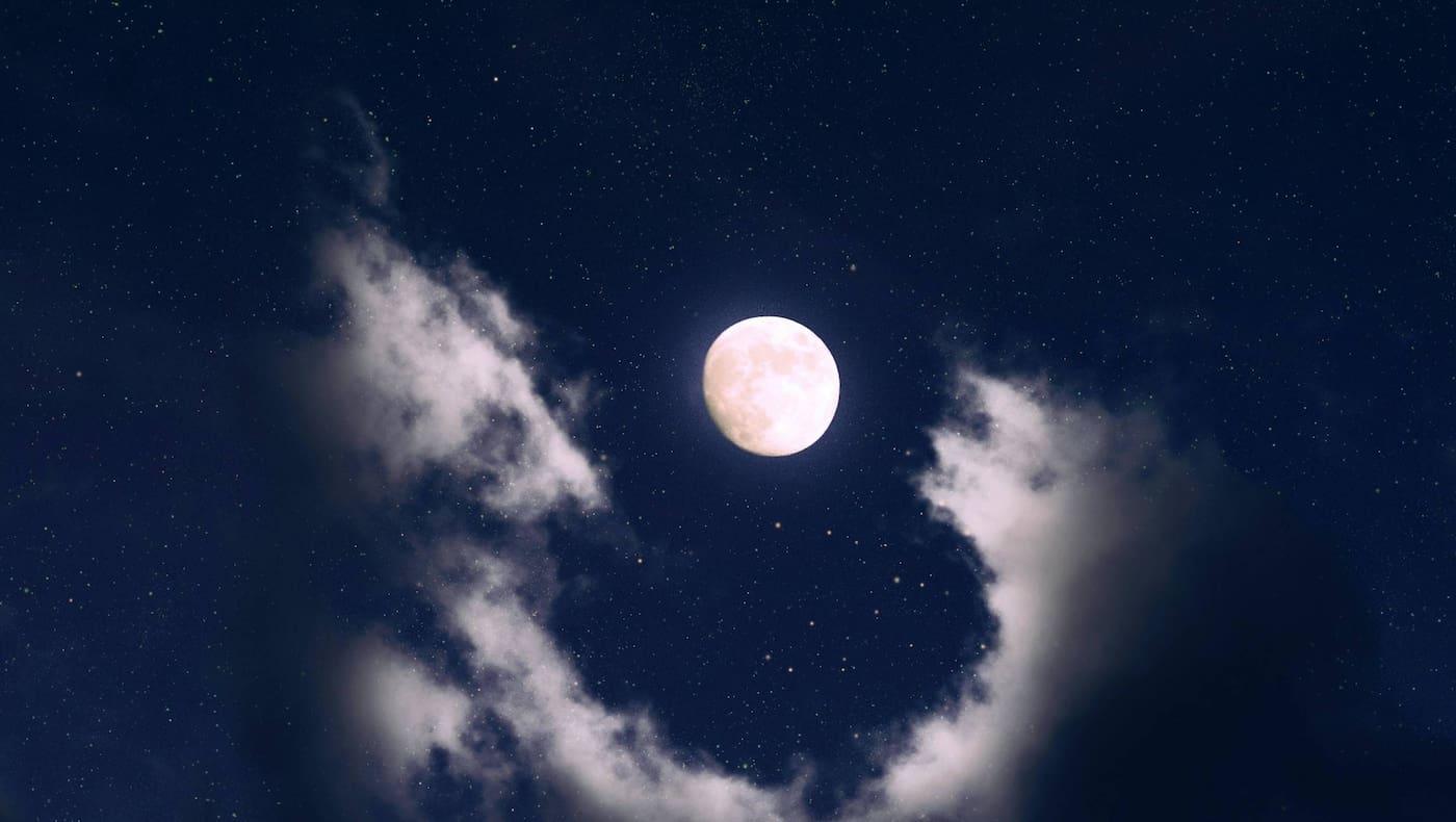 Mond, Nacht, Sterne, Wolken, Mondkalender, Servus