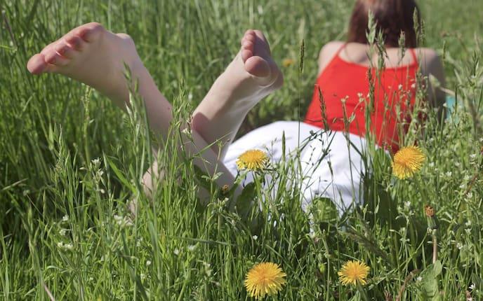 Fußpflege, Füße, barfuss