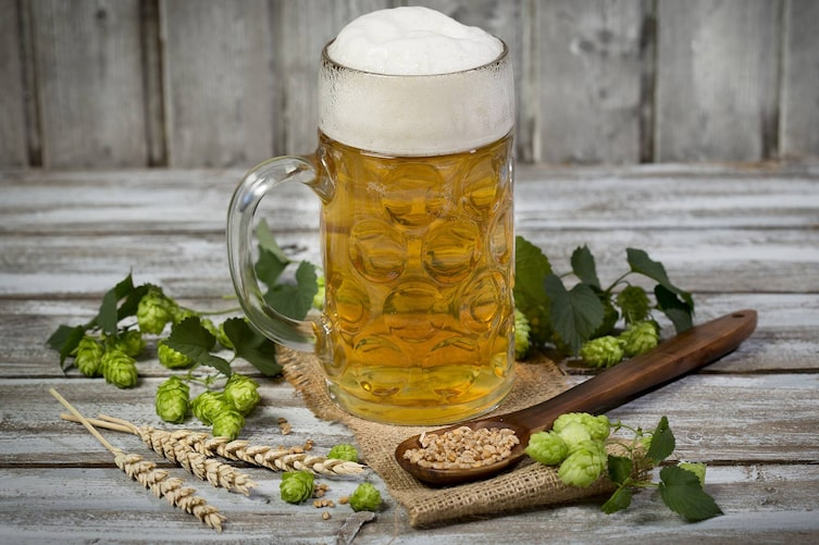 Bier, Maske, fettige Haut, Naturkosmetik