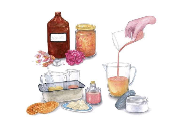 Naturkosmetik, Naturapotheke, Rosencreme, Rose, Gesichtscreme