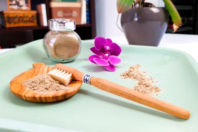 Naturkosmetik, Zahnpulver, Heilerde, weiße Zähne, Fräulein Grün