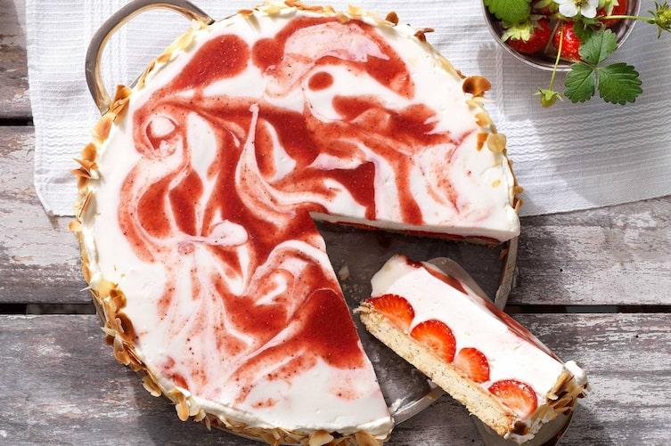Erdbeertorte, Schafmilchjoghurt, Joghurt, Erdbeeren, Torte, Nachspeise, Servus Rezept