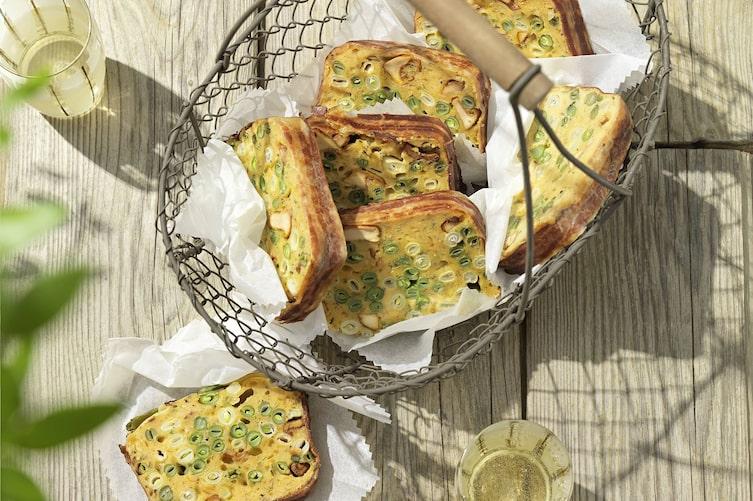 Fisolenkuchen, Fisolen, pikanter Kuchen, Kuchen, Hauptspeise, Servus Rezept