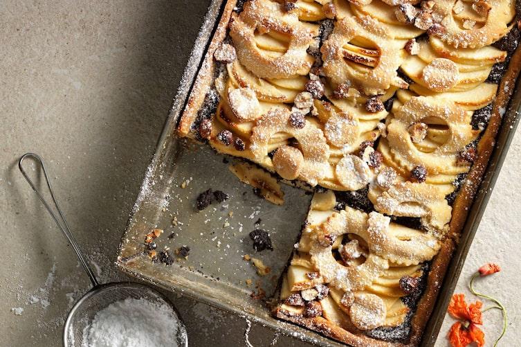 Apfel-Mohn-Kuchen, Kuchenrezept, Apfelkuchen, Mohn, Apfel, Servus-Rezept