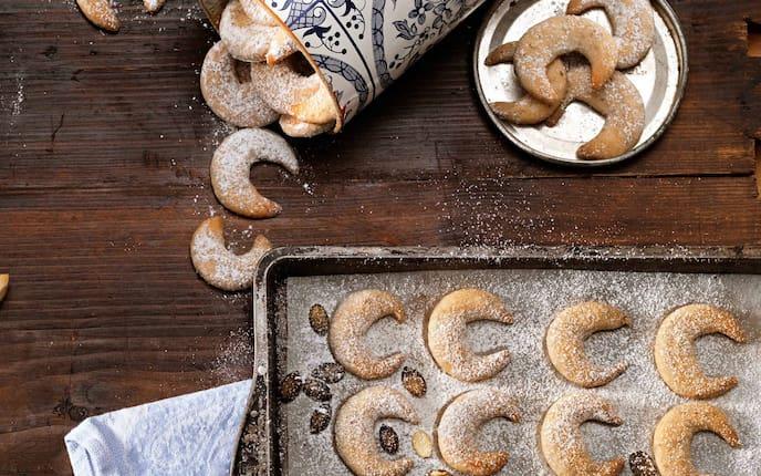 Kürbiskernkipferl, Weihnachtskekse, Kekse, Plätzchen, Rezepte