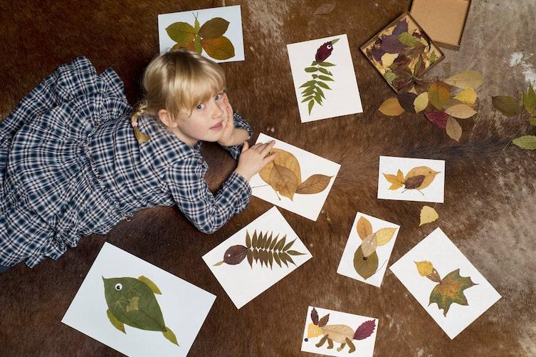 Basteln, Blättertiere, Blätter, Herbst