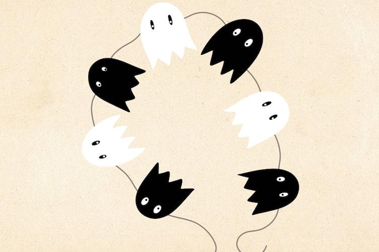 Girlande aus Geistern (Illustration: Anna Schober)