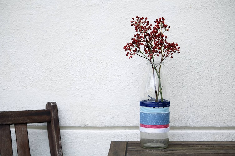 Blumenvase selber basteln (Foto: Luana Baumann-Fonseca)