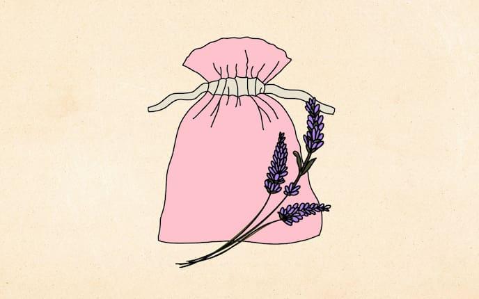 Lavendelsackerl selber nähen (Illustration: Anna Schober)