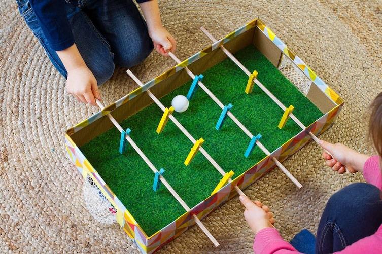 Tischfussball, selber machen, basteln, Kinder, Servus Kinder