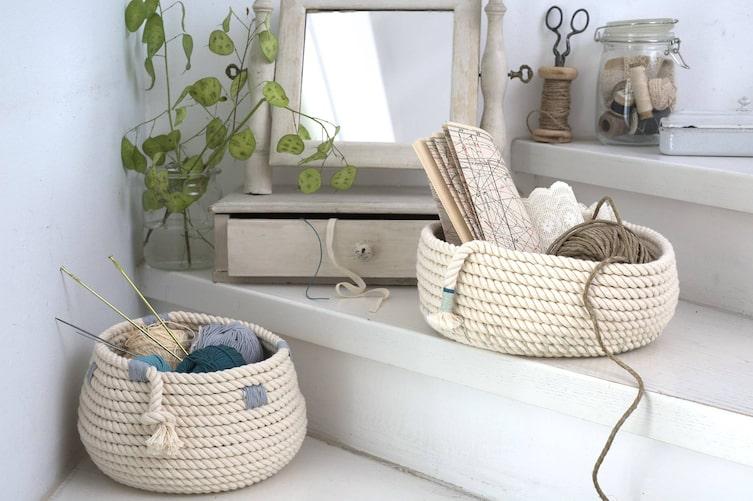 Einrichtungsideen mit Seilen: Körbe (Bild: Katharina Gossow)