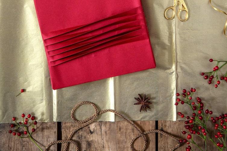 Geschenke verpacken, Geschenke dekorieren, Fächerblumen, mit Papier basteln