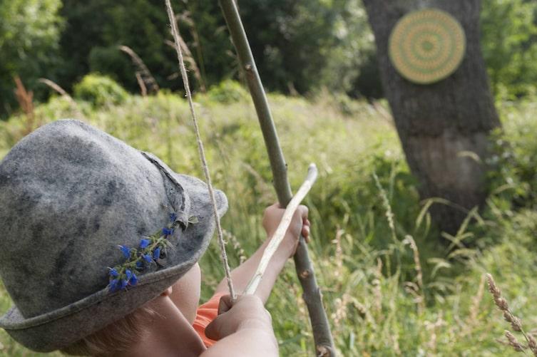 Selbermachen, Pfeil und Bogen, schießen, Kinder, Basteln