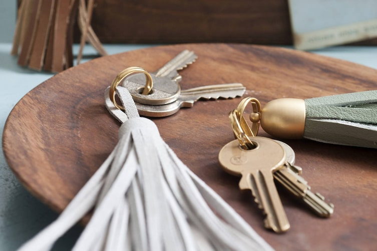 Schlüsselanhänger, Lederquaste, selber machen, Fransen