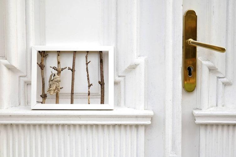 Schlüsselbrett aus Bilderrahmen (Foto: Luana Baumann-Fonseca)