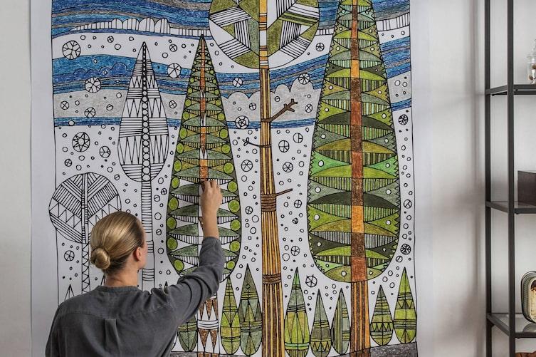 Wandtapete selber machen (Bild: Michaela Gabler)