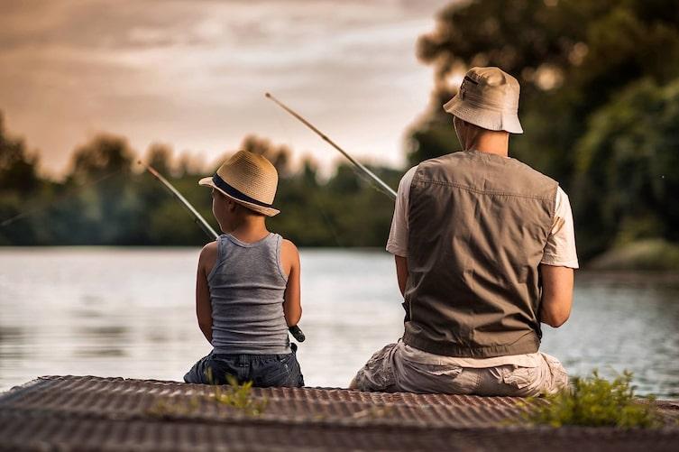 Angeln, Fischen, Fischer, Vater, Sohn