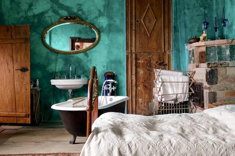 Wohnen, Hausbesuch, Bad, freistehende Badewanne