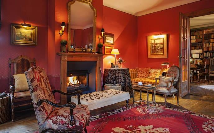 Wohnen, Hausbesuch, Rot, Wohnzimmer