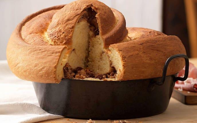 Reindling, Germteig, Germkuchen, Nussfülle, Nachspeise, Kuchen, Servus Rezept