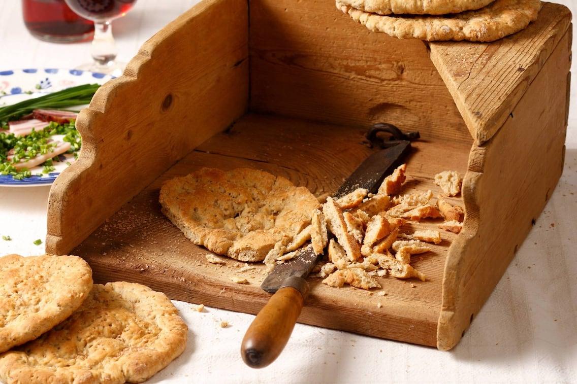 Brot, knusprig, Knäckebrot, Servus Rezept