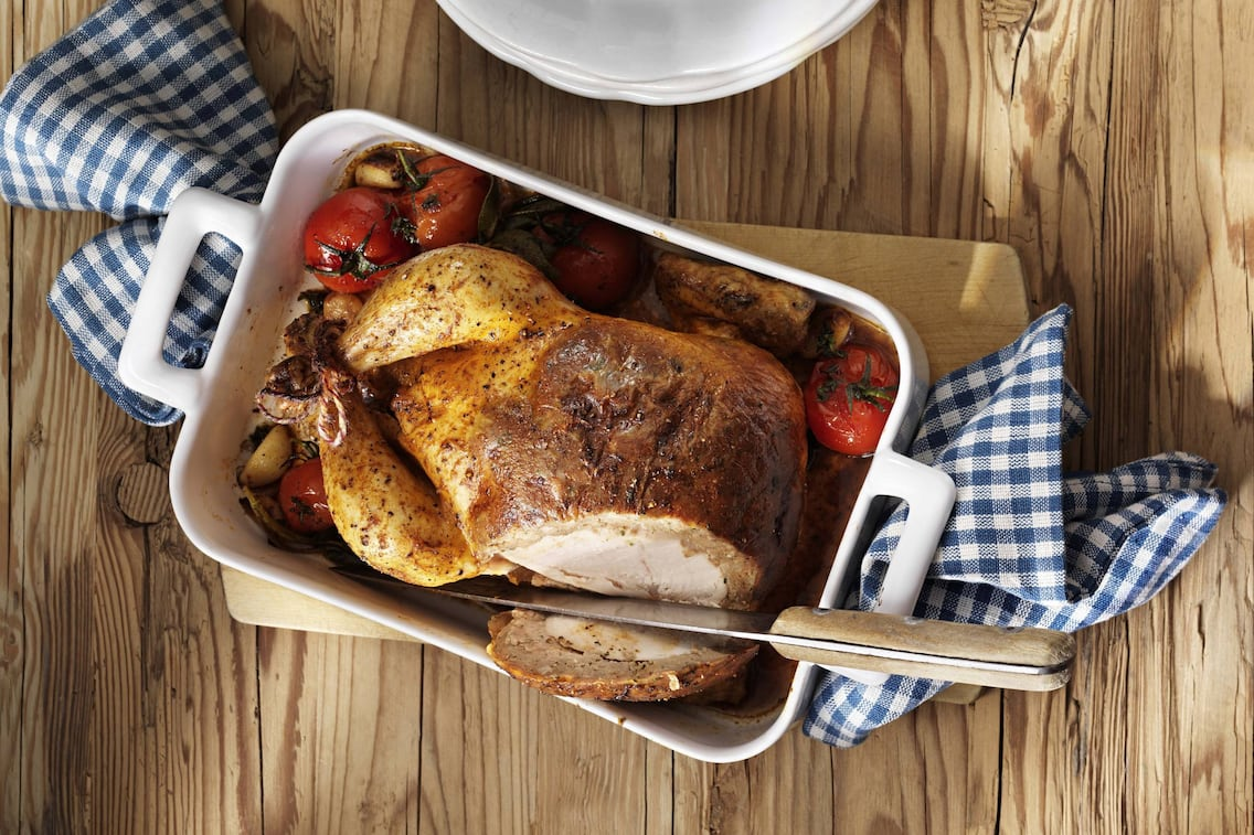 Gefülltes Huhn, Semmelfülle Huhn, Huhn richtig füllen, Servus-Rezept