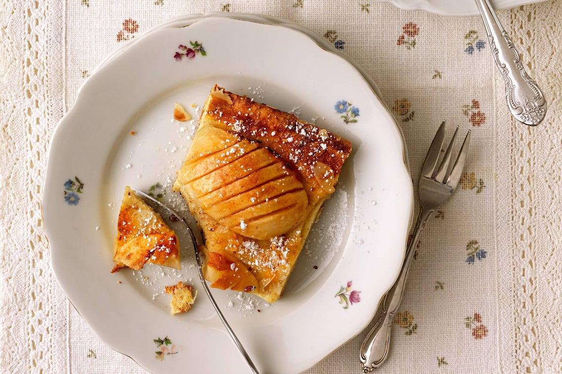 Apfel-Topfen-Kuchen, Kuchen, Apfel, Topfen, Nachspeise, Servus Rezept