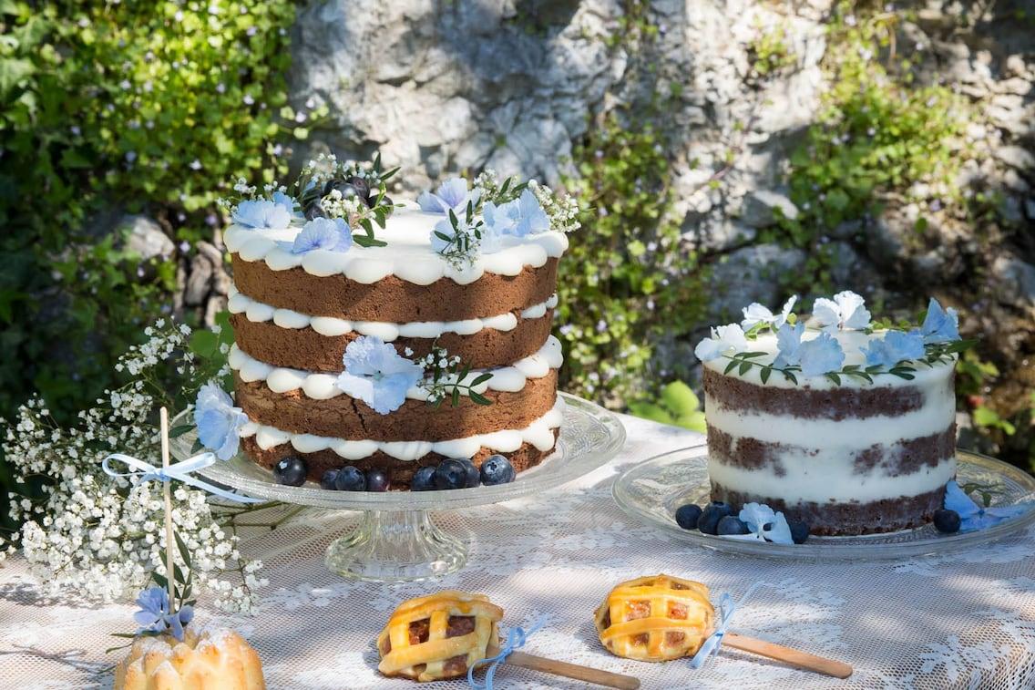 Schokokuchen, Creme, Torte, Mascarpone, Blumen, Nachspeise, Servus Rezept