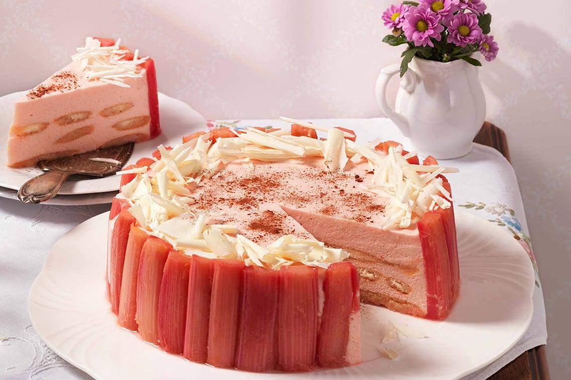 Rhabarbertorte, Rhabarber, Torte, Nachspeise, Servus Rezept