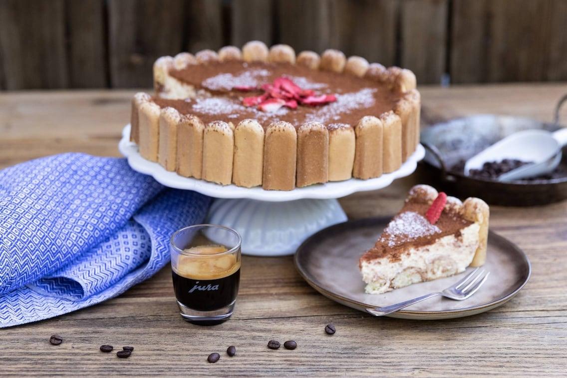 Tiramisutorte, Torte, Biskotten, Creme, Kaffee, Naschspeise