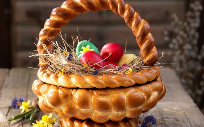 Osterkorb, Teig, Ostern, Ostergeschenk