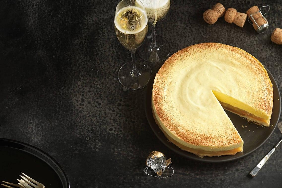 Apfel-Sektcreme-Torte, Torte, Apfel-Torte, Torte mit Sekt, Torten-Rezept, Servus-Rezept