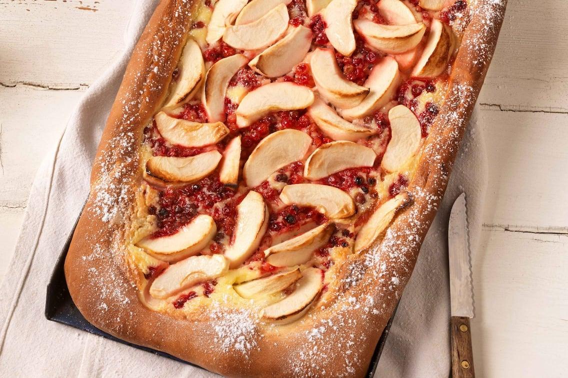 Apfelkuchen mit Preiselbeeren (Bild: Eisenhut & Mayer)