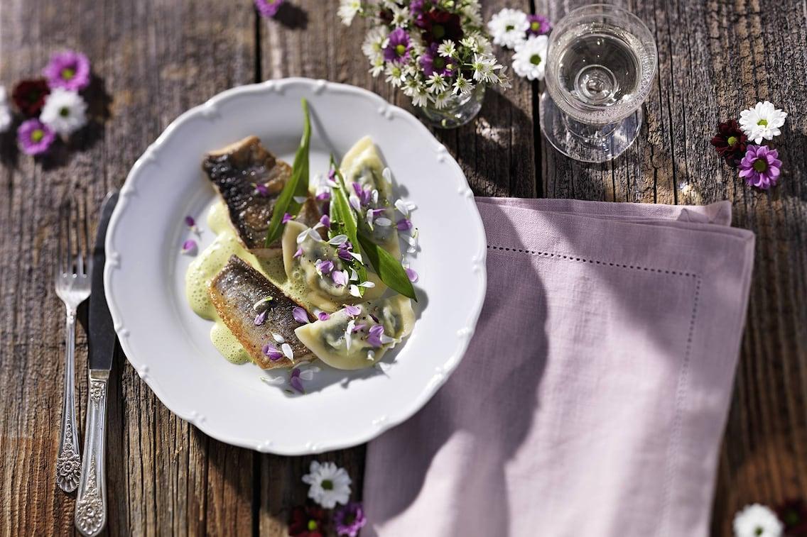 Blütensaibling, Saibling, Fischrezept, Bärlauch