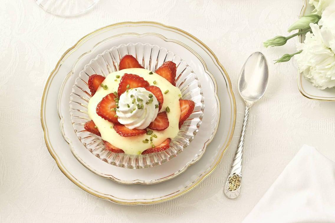 Erdbeercreme, Erdbeeren, Creme, bayrische Creme, Nachspeise, Servus Rezept