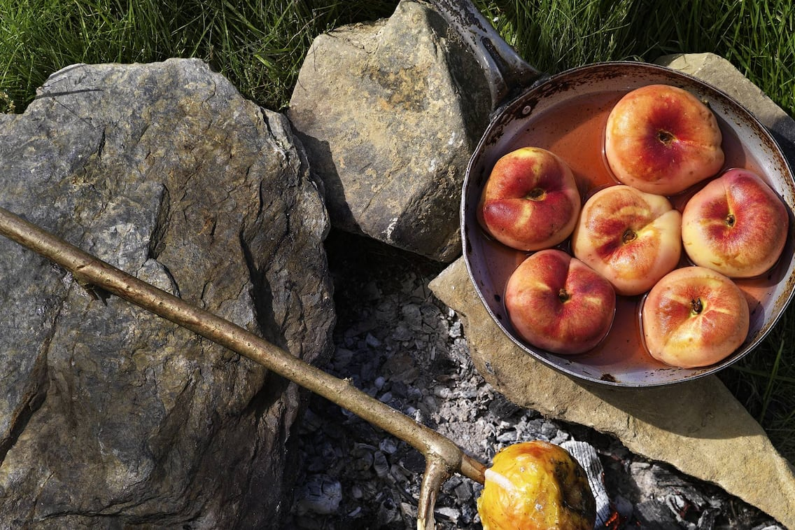Gartenobst, grillen, Grillobst, Birnen, Äpfel, Weingartenpfirsich, Servus Rezept