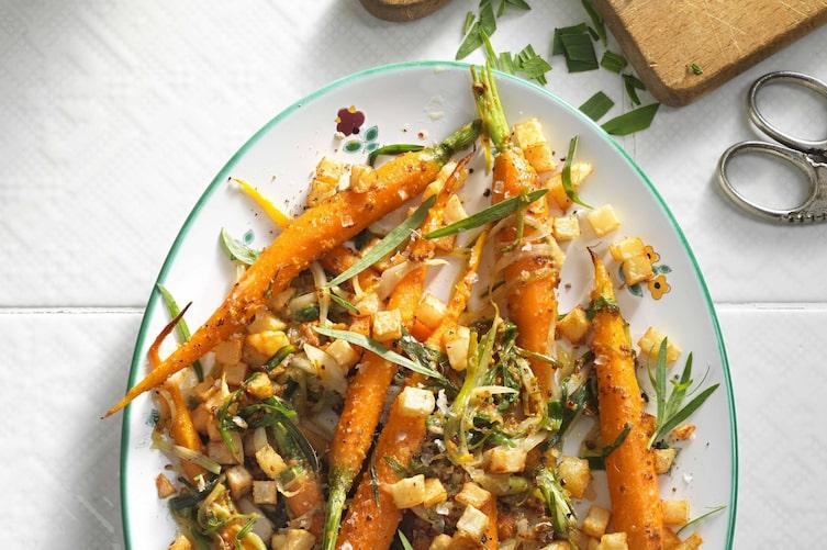 Karotten, Erdäpfel, Kräuter, Rezept