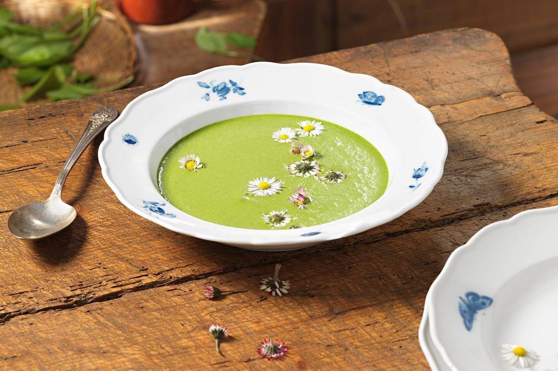 Rezept, Rottaler Gründonnerstagssuppe, Gänseblümchen